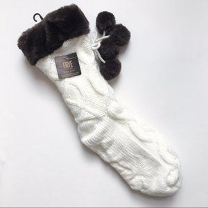 FRYE Cable Knit Home Socks with Gripper